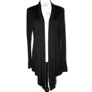 Croft & Barrow Long Sleeve Cardigan Black Large
